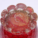 Red Glass Vase Murano - picture 5