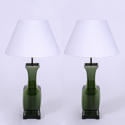 Green Ceramic Table Lamps - picture 1