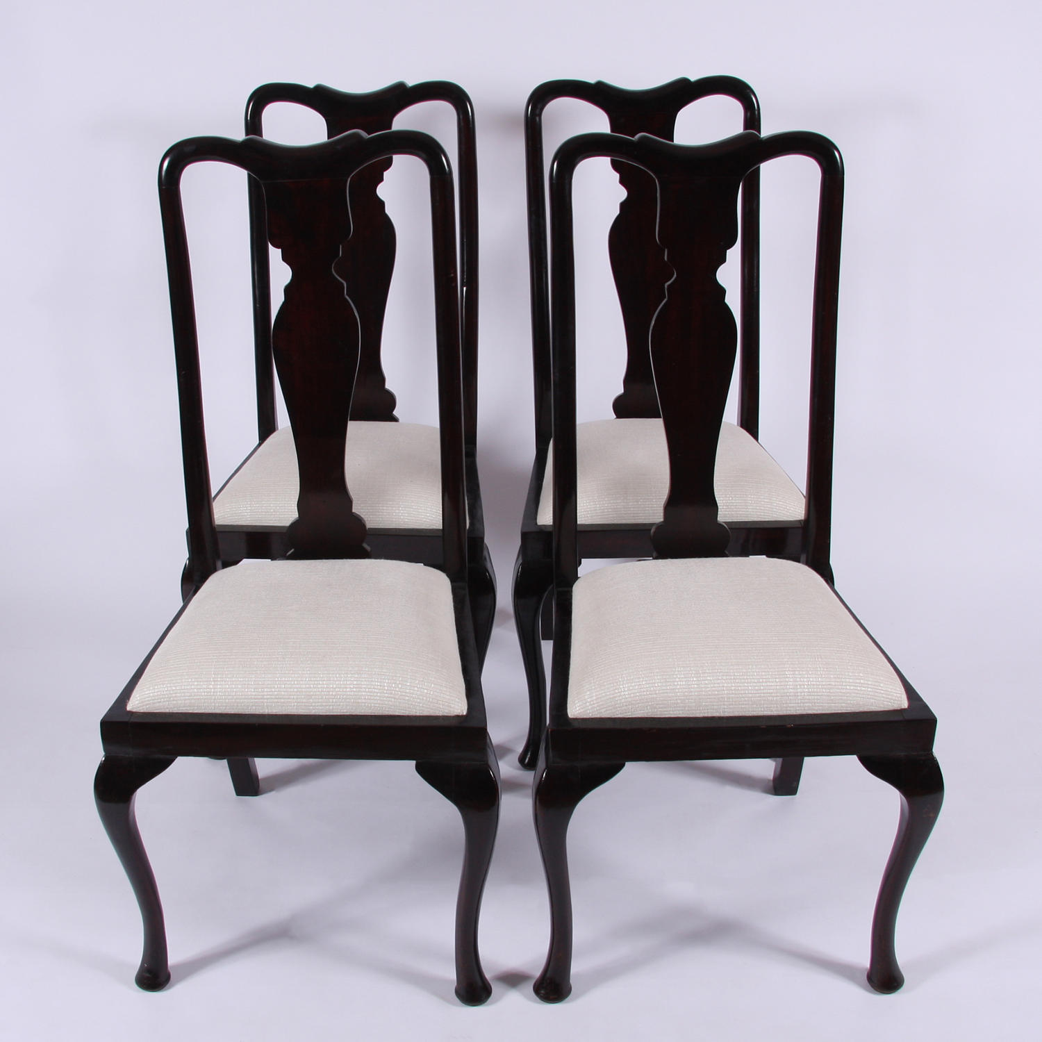 Set of Four Queen Anne Style Chairs