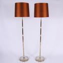 Pair of Brass Floor Lamps - picture 1