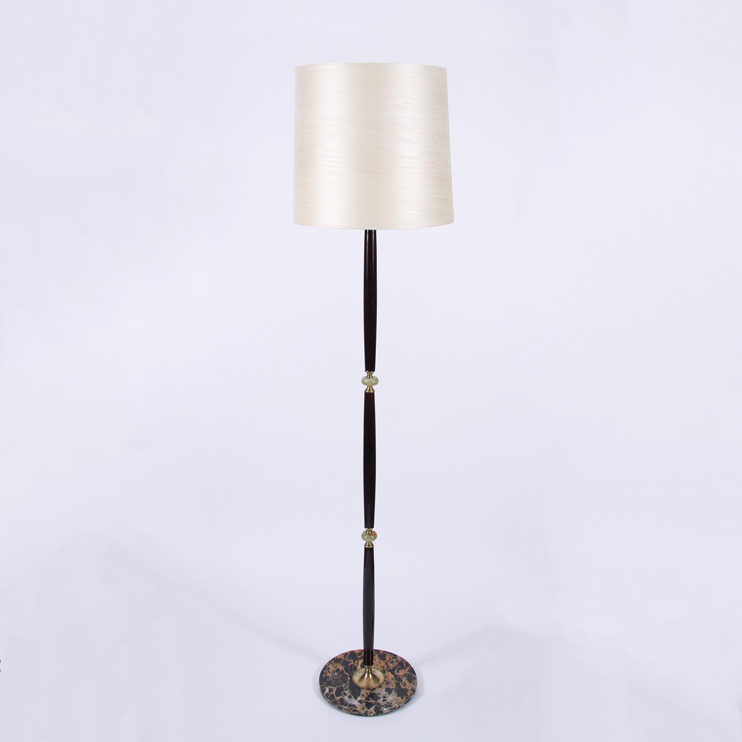 Lacquered Wood Floor Lamp