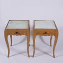Pair of Mirrored Bedside Tables - picture 1