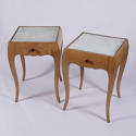 Pair of Mirrored Bedside Tables - picture 2