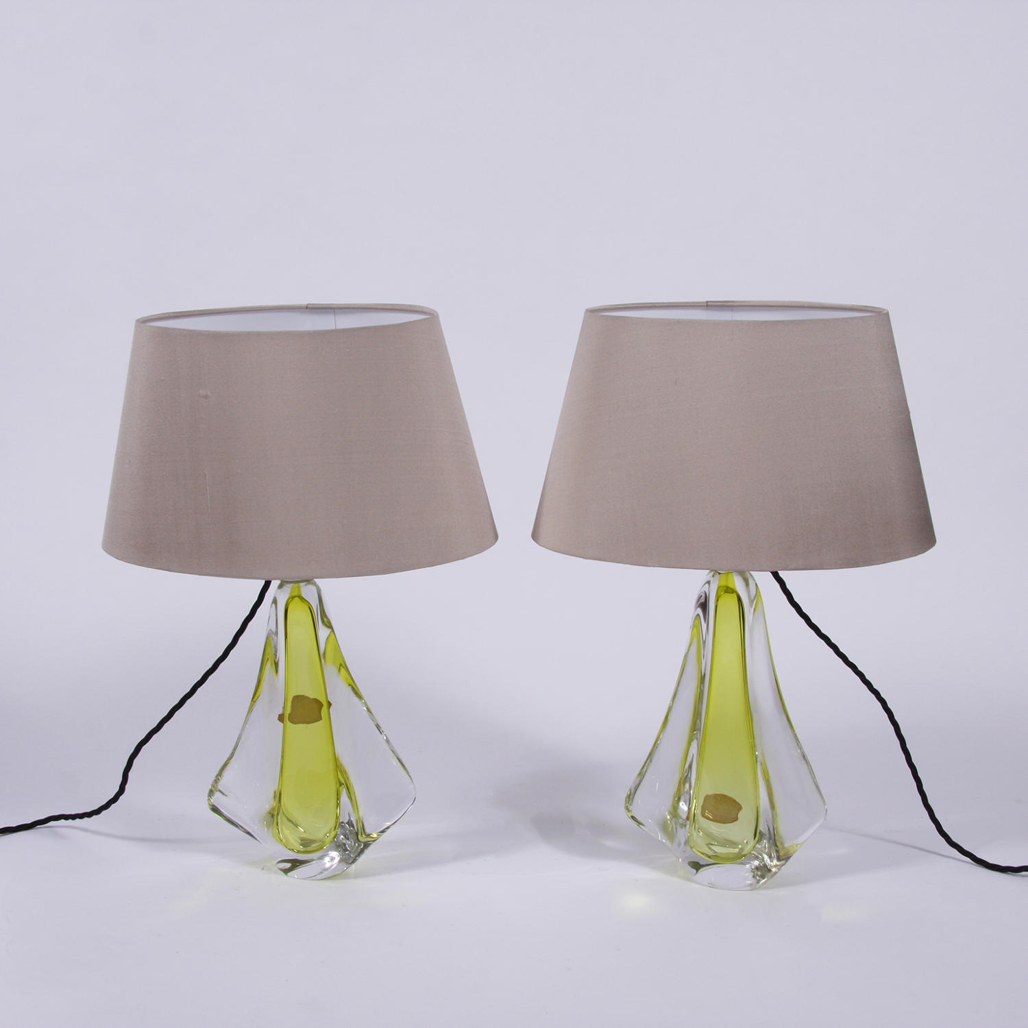 Pair of Val St Lambert Lamps