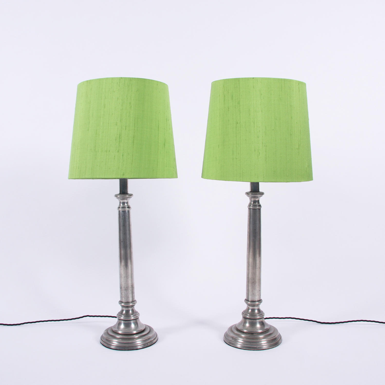 Pair of Aluminium Lamps