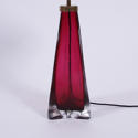 Pair of Cranberry Orrefors Lamps - picture 3