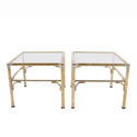 Pair of Faux Bamboo Side Tables - picture 1