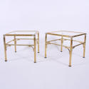 Pair of Faux Bamboo Side Tables - picture 2
