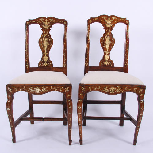 Pair of Ivory Inlaid Chairs