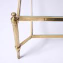 Large Glass and Brass Coffee Table - picture 2