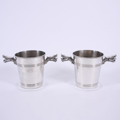 Pair of Dragon Ice Buckets