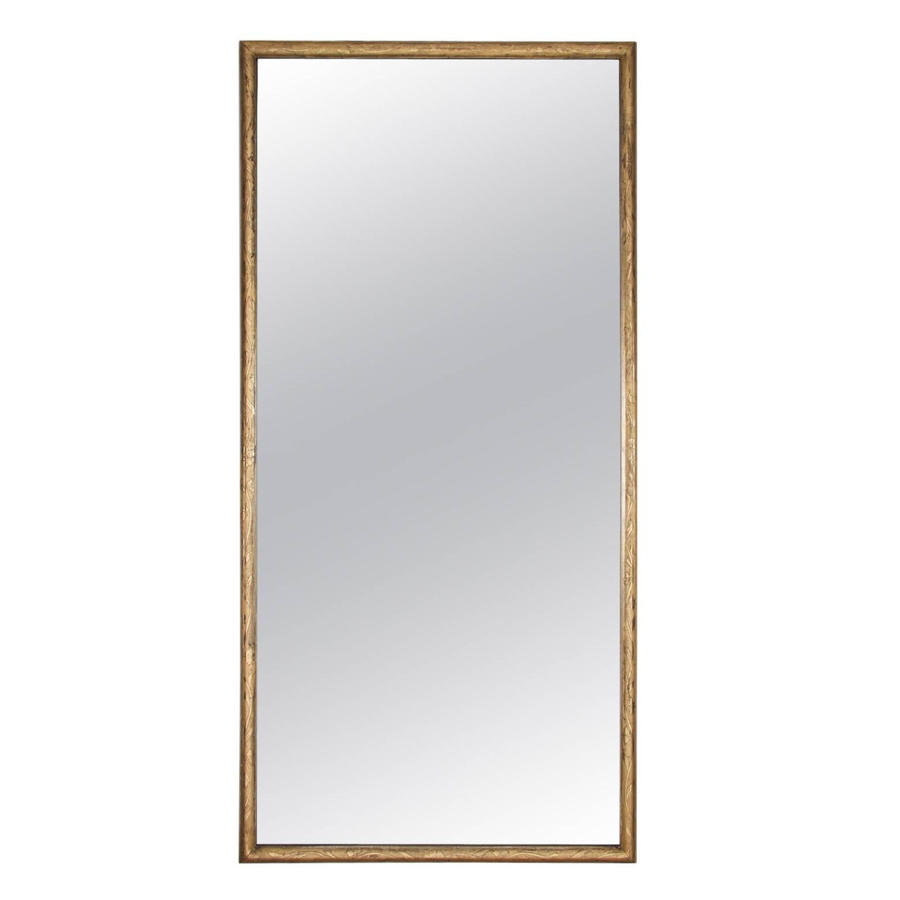 Giltwood Mirror with Floral Detail
