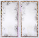 Pair of Faux Bamboo Mirrors - picture 1