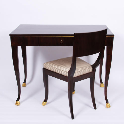 Reeded Desk and Matching Chair