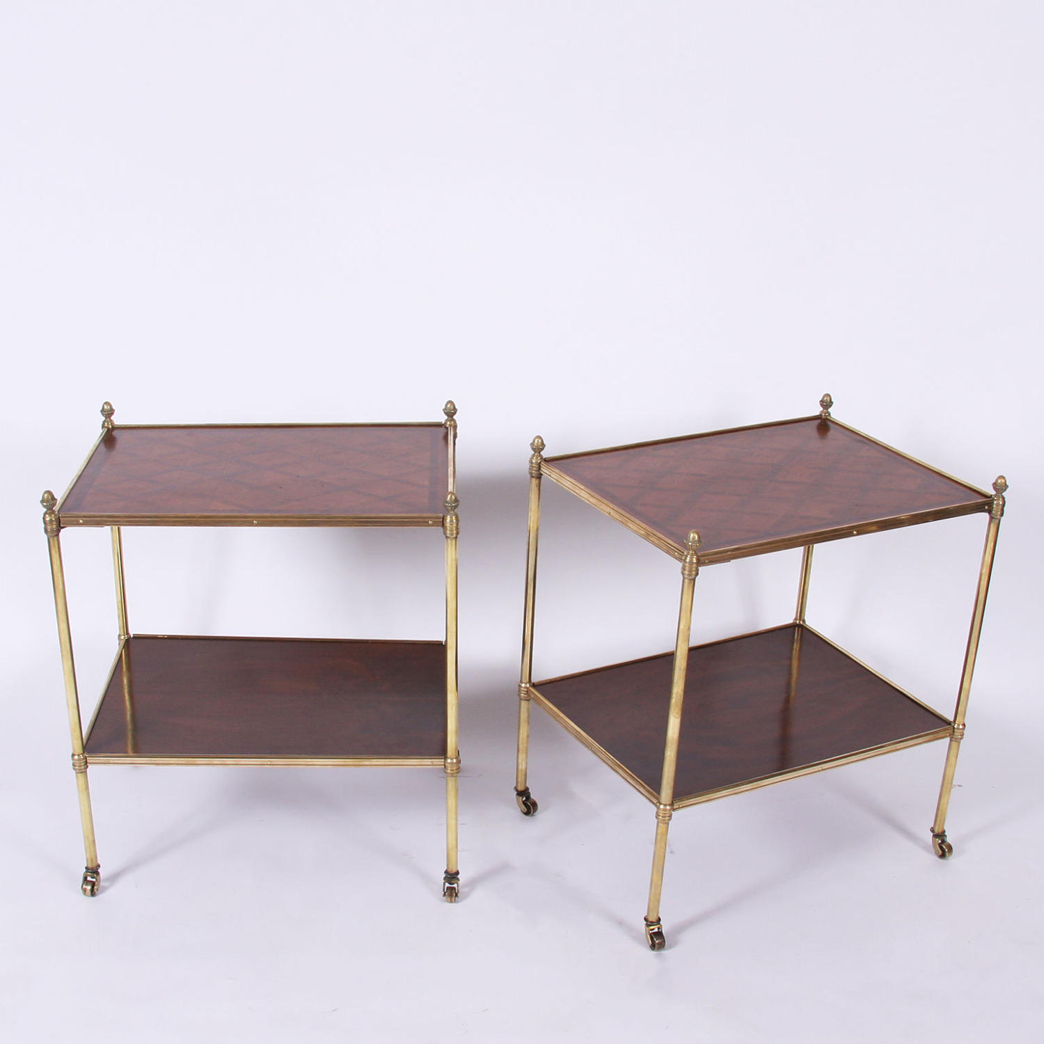 Pair of Parquetry Tables