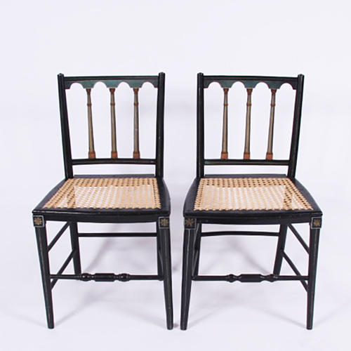 Pair of Swedish Caned Chairs