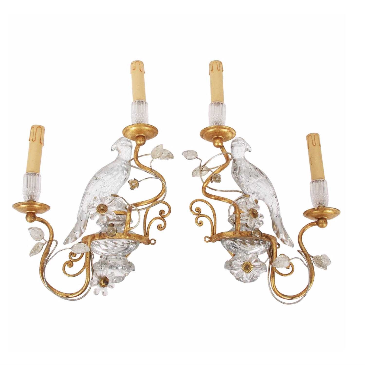 Pair of Baguès Style Wall Sconces