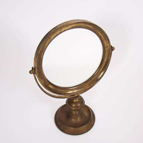 Circular Brass Vanity Mirror