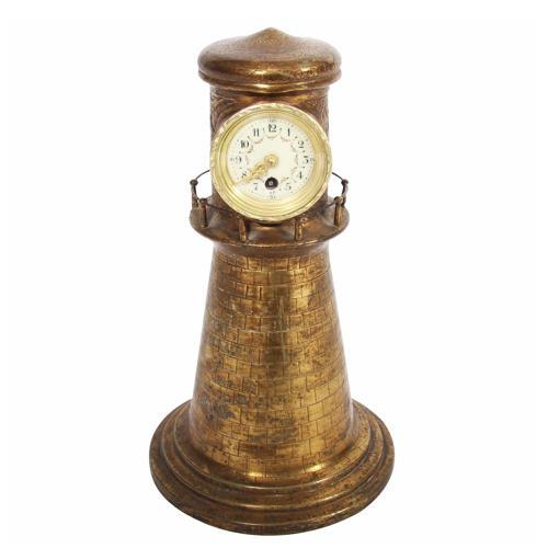 Brass Lighthouse Clock