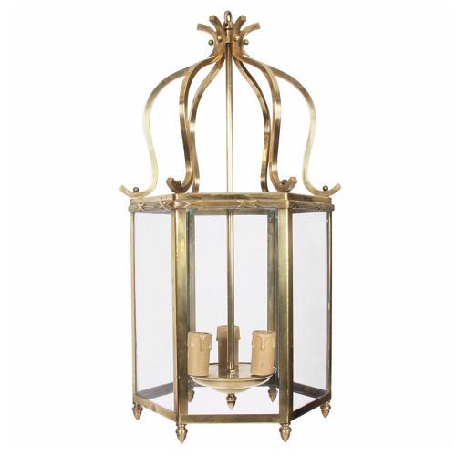 Hexagonal Brass Lantern