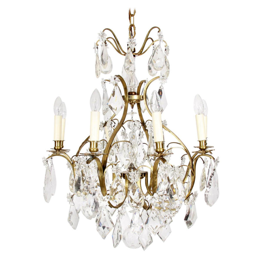 Crystal Chandelier with Star Design