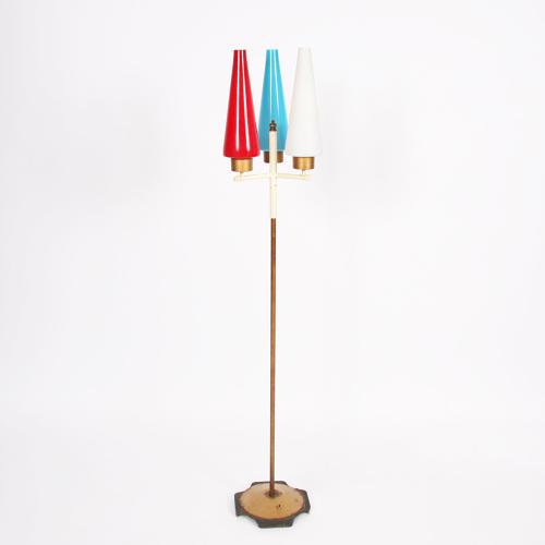 Danish 1960s Multicoloured Floor Lamp