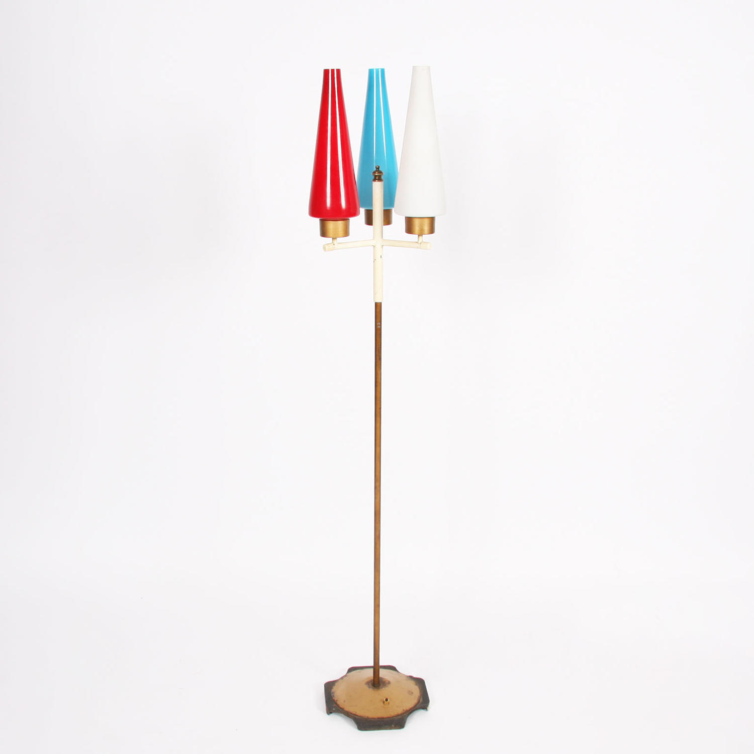 Danish 1960s Multicoloured Floor Lamp