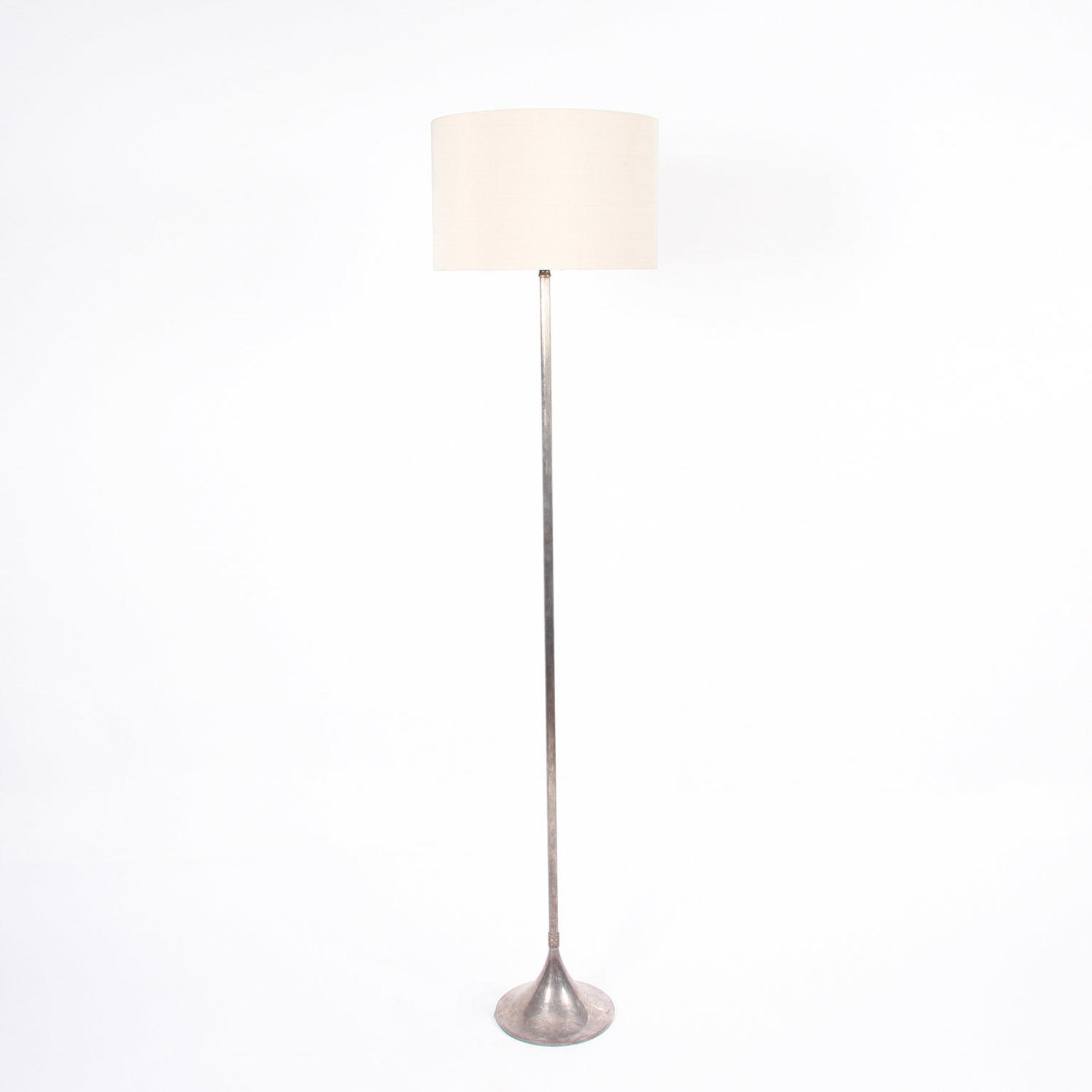 Silver Plated Reeded Floor Lamp