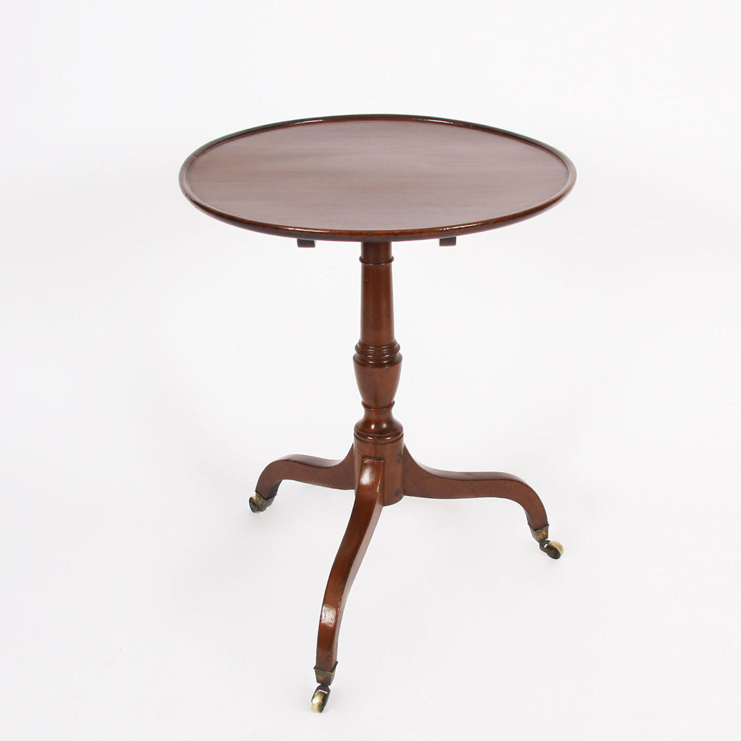 Mahogany Dish Top Occasional Table on Castors