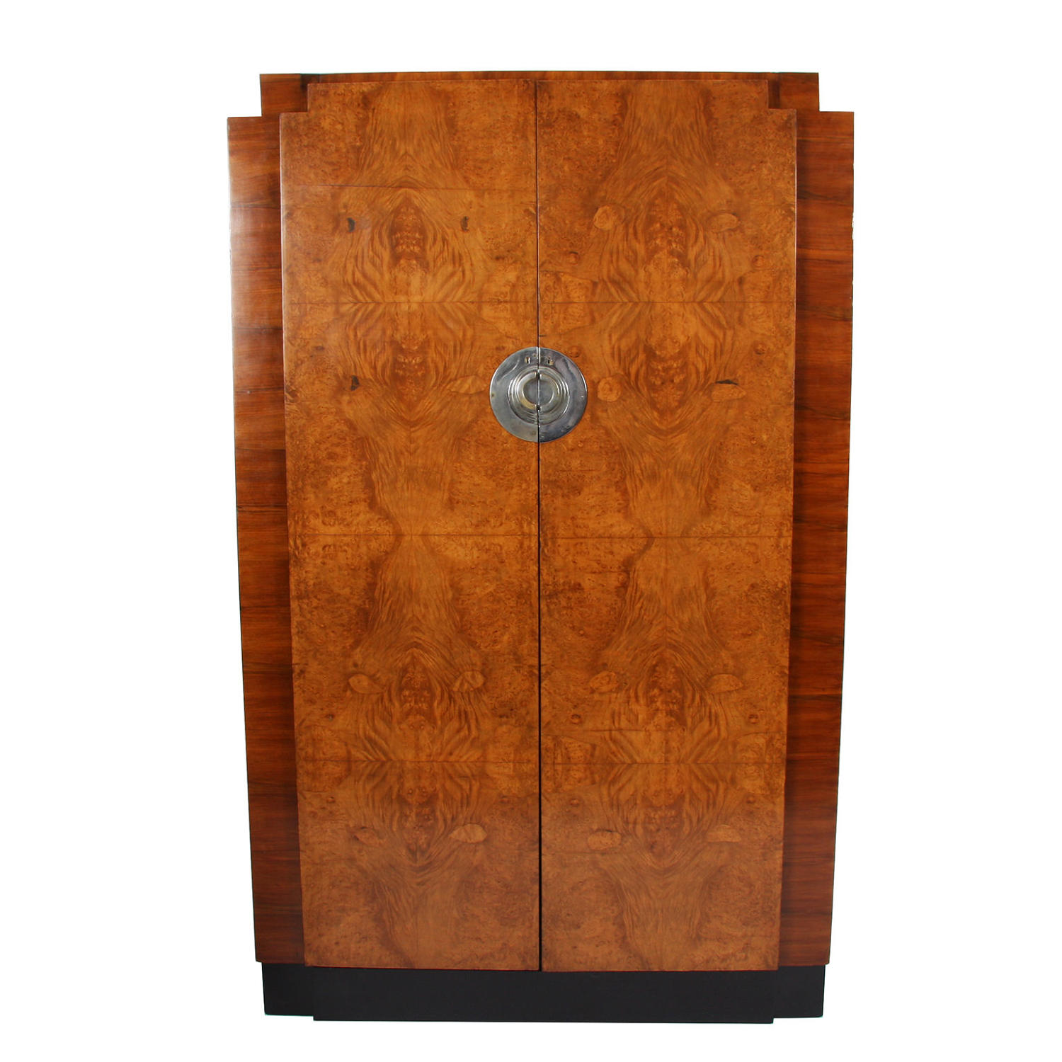 Burr Walnut Wardrobe and Hanging Cabinet