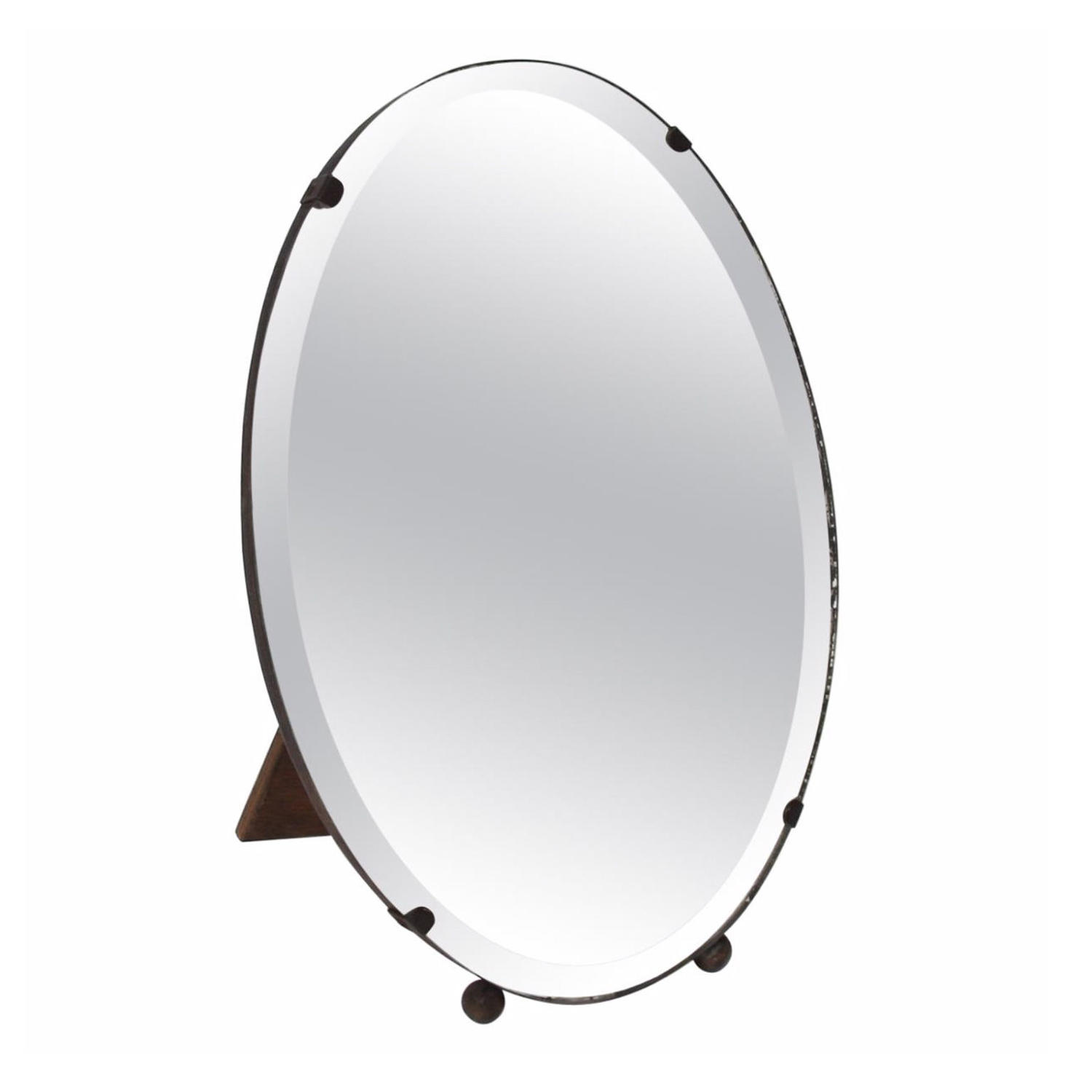 Oval Bevelled Glass Dressing Table Mirror