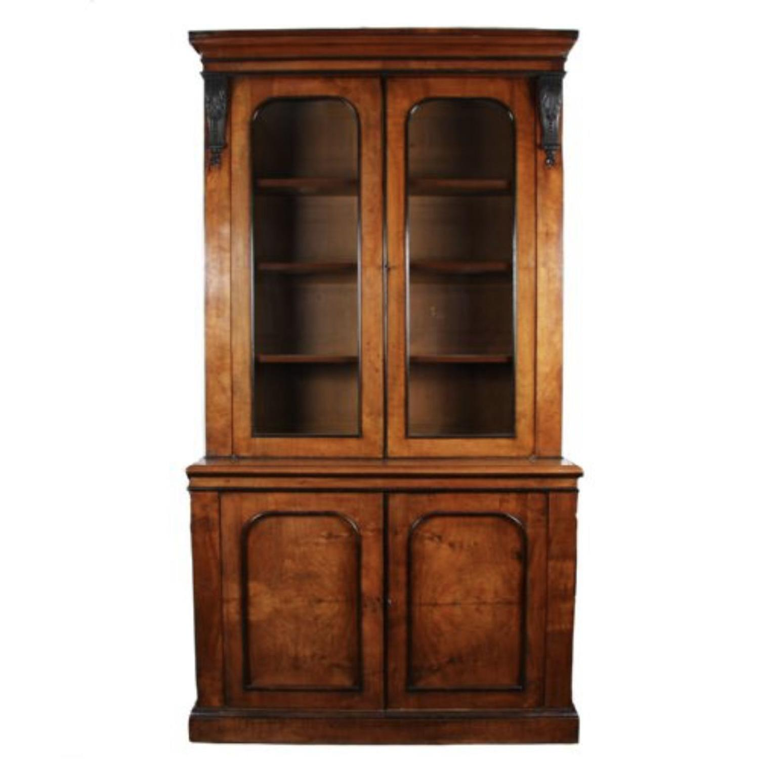 Large English C19th Walnut Cabinet