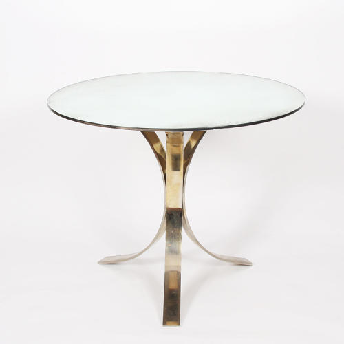 Round Mirrored Glass Centre Table