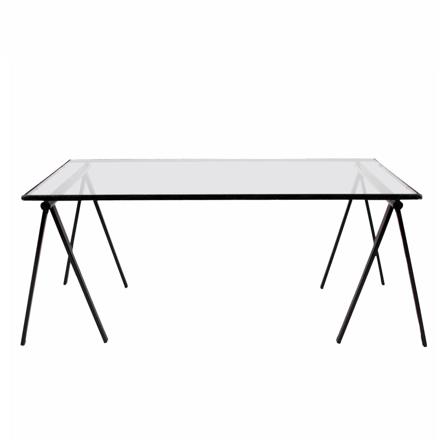 Glass Trestle Table & Dining Table