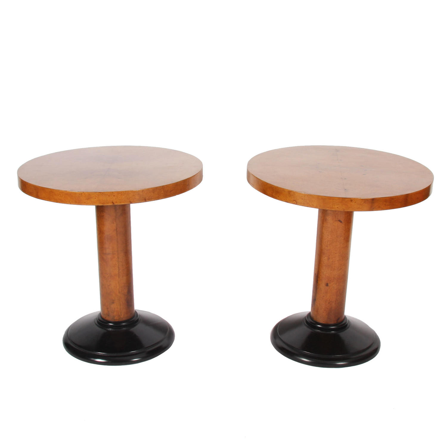 Pair of Maple Veneer Side Tables