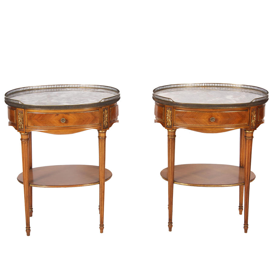 Pair of Fruitwood Bedside Tables