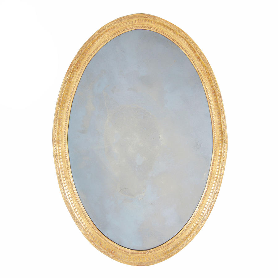 Oval Carved Giltwood Mirror