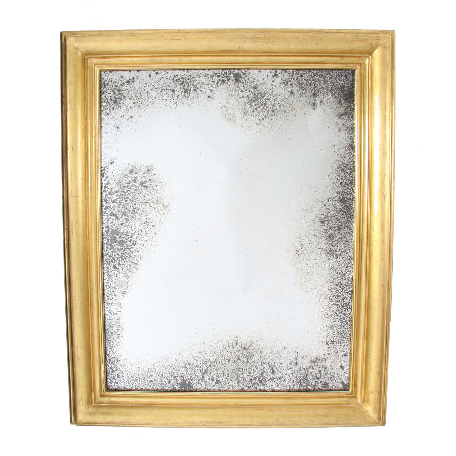 Giltwood Mirror with Distressed Glass