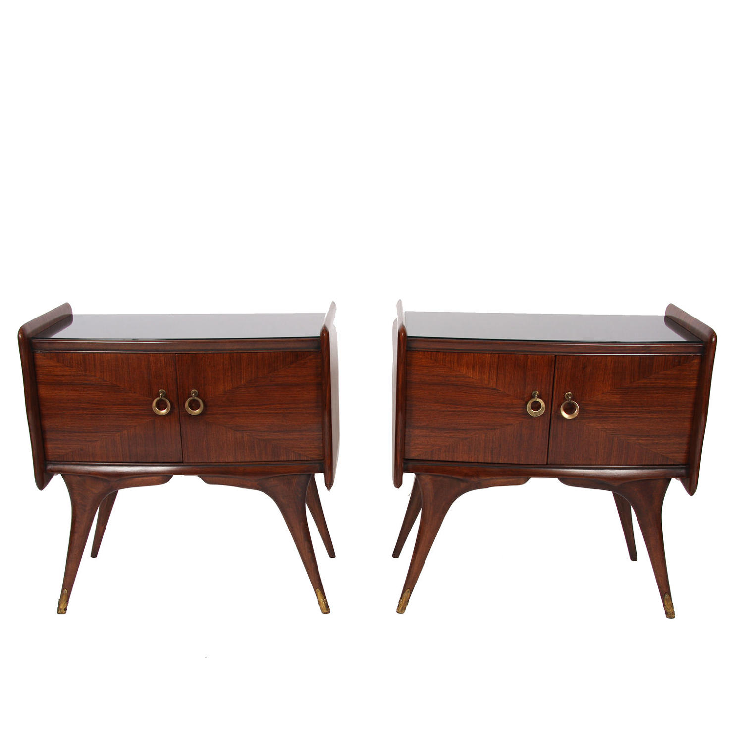 Pair of Gio Ponti Style Bedside Tables