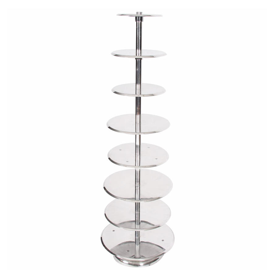 Polished Aluminium Patisserie Stand