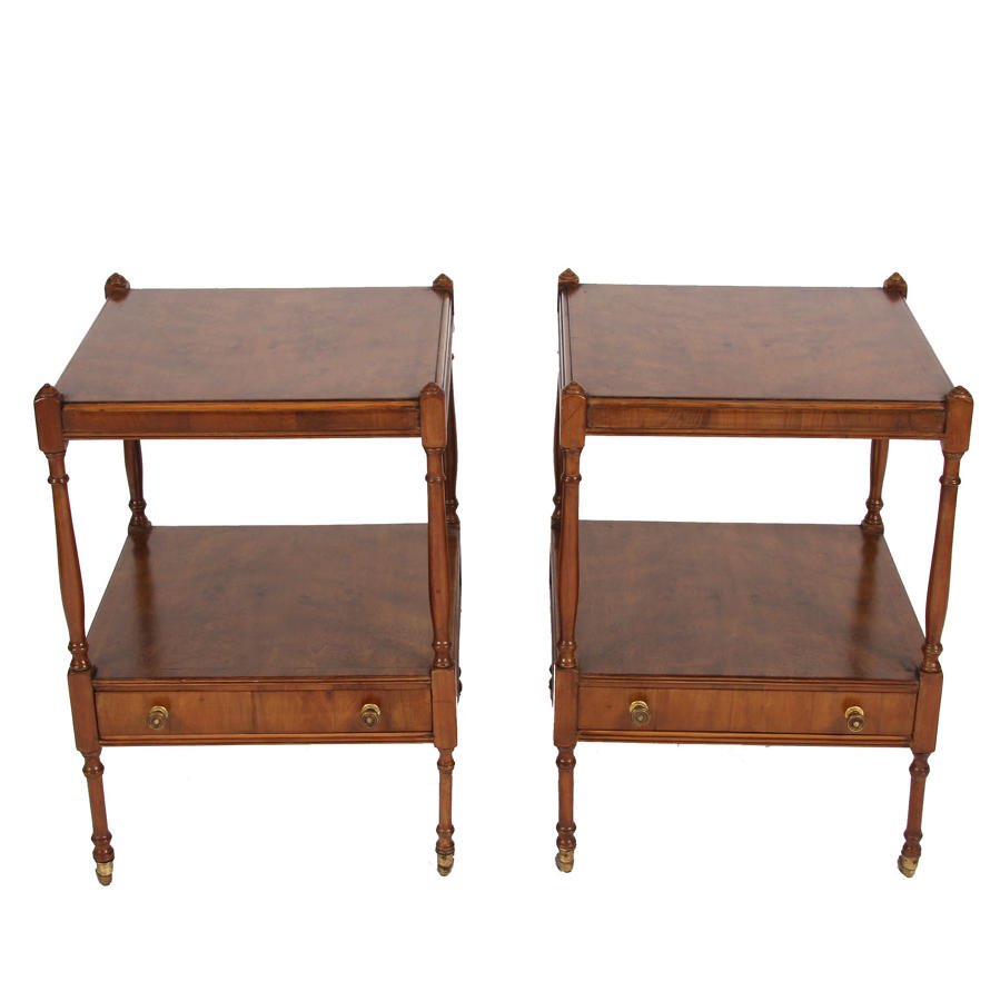 Pair of Elm Bedside Tables