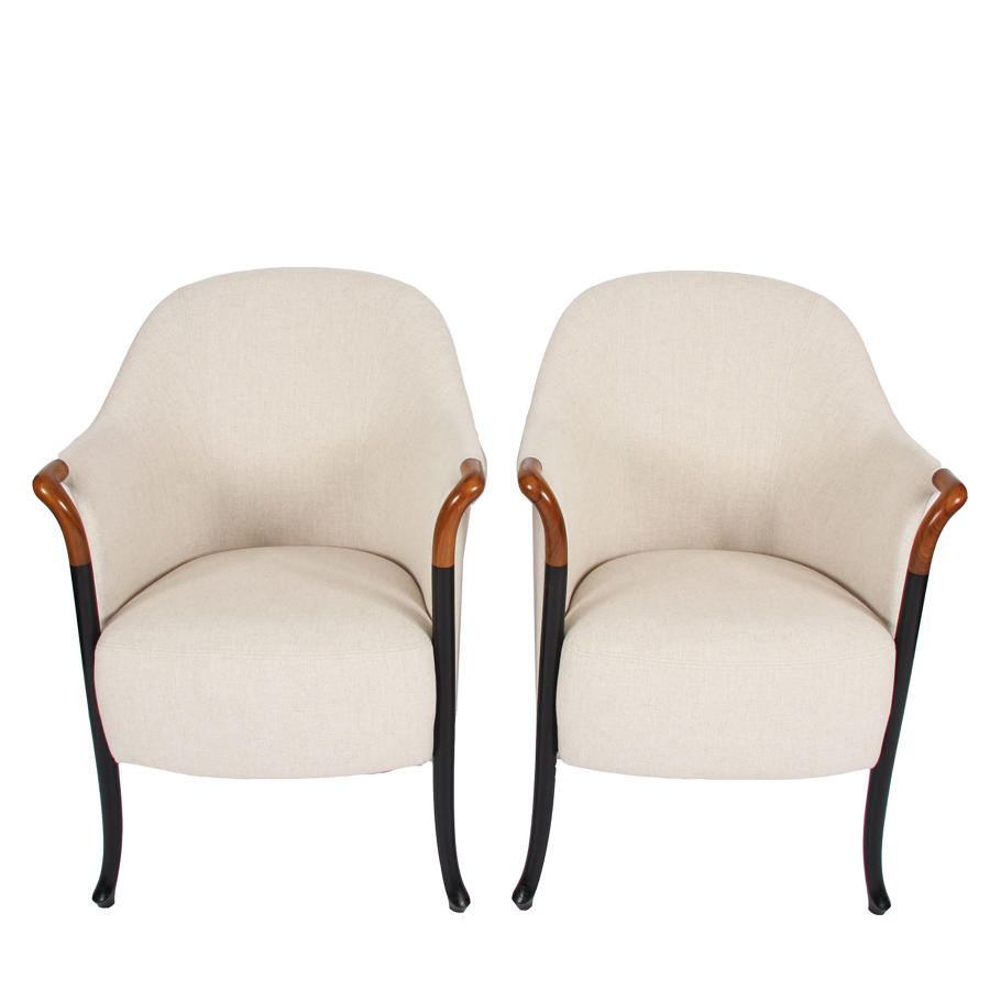 Pair of Armchairs by Giorgetti Italia