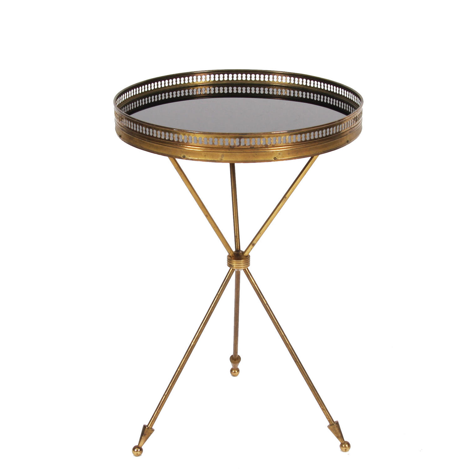 Bagues Style Side Table with Tripod Base