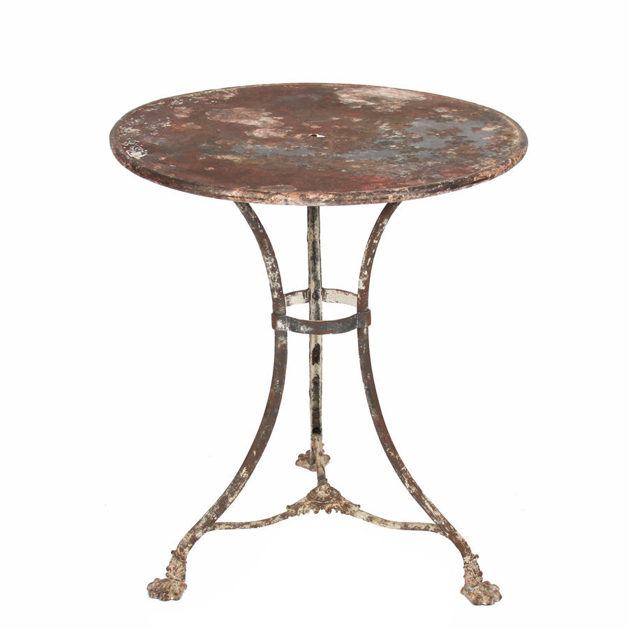 Wrought Iron Arras Table with Paw Feet