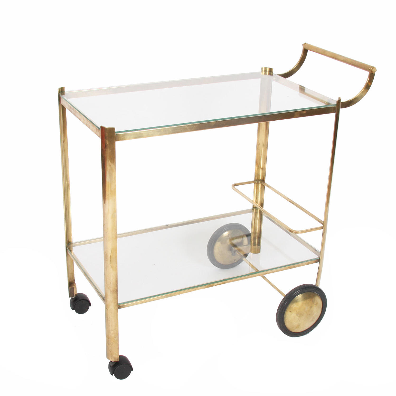 Brass Drinks Trolley by Jacques Quinet