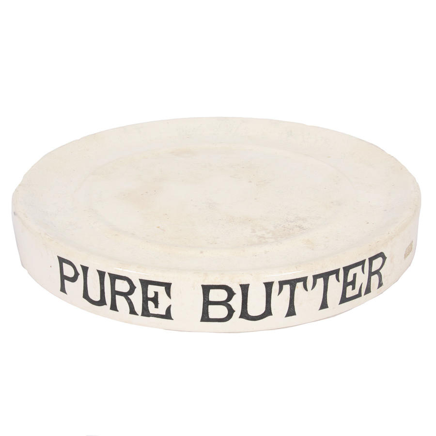 White Ironstone Pure Butter Dish