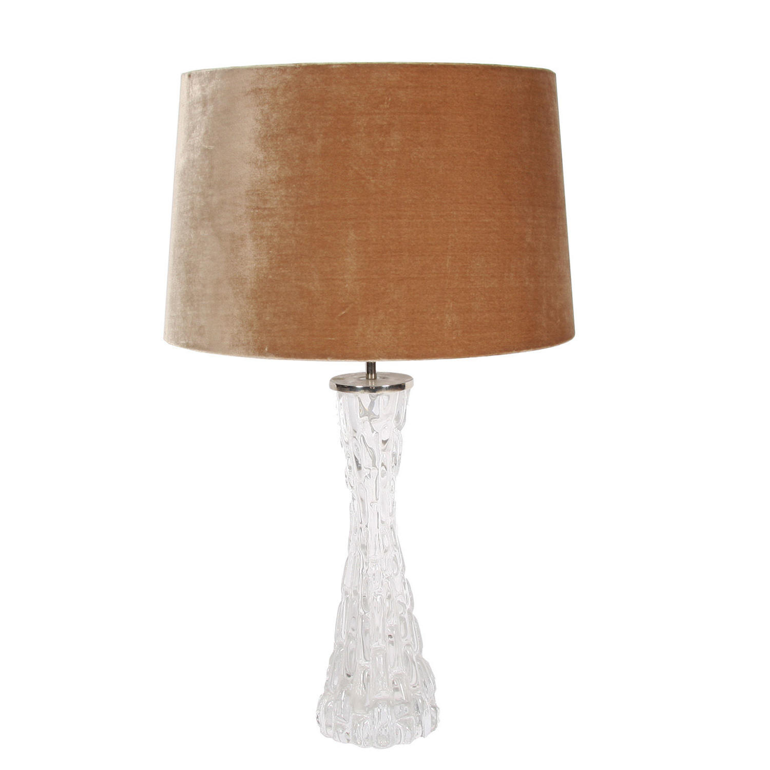 A Large Single Orrefors Glass Table Lamp