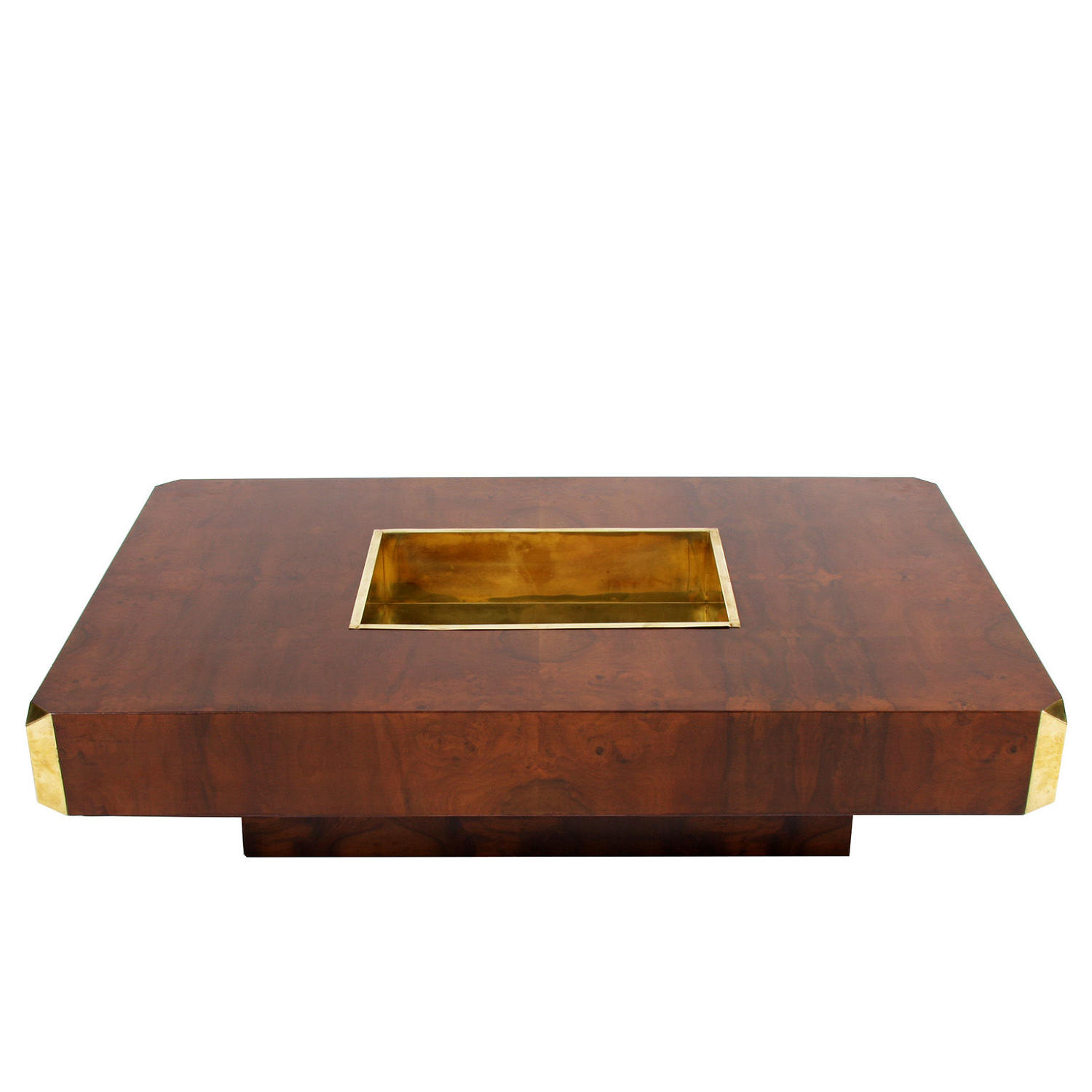 Coffee Bar Table with Brass Ice Bucket by Willy Rizzo