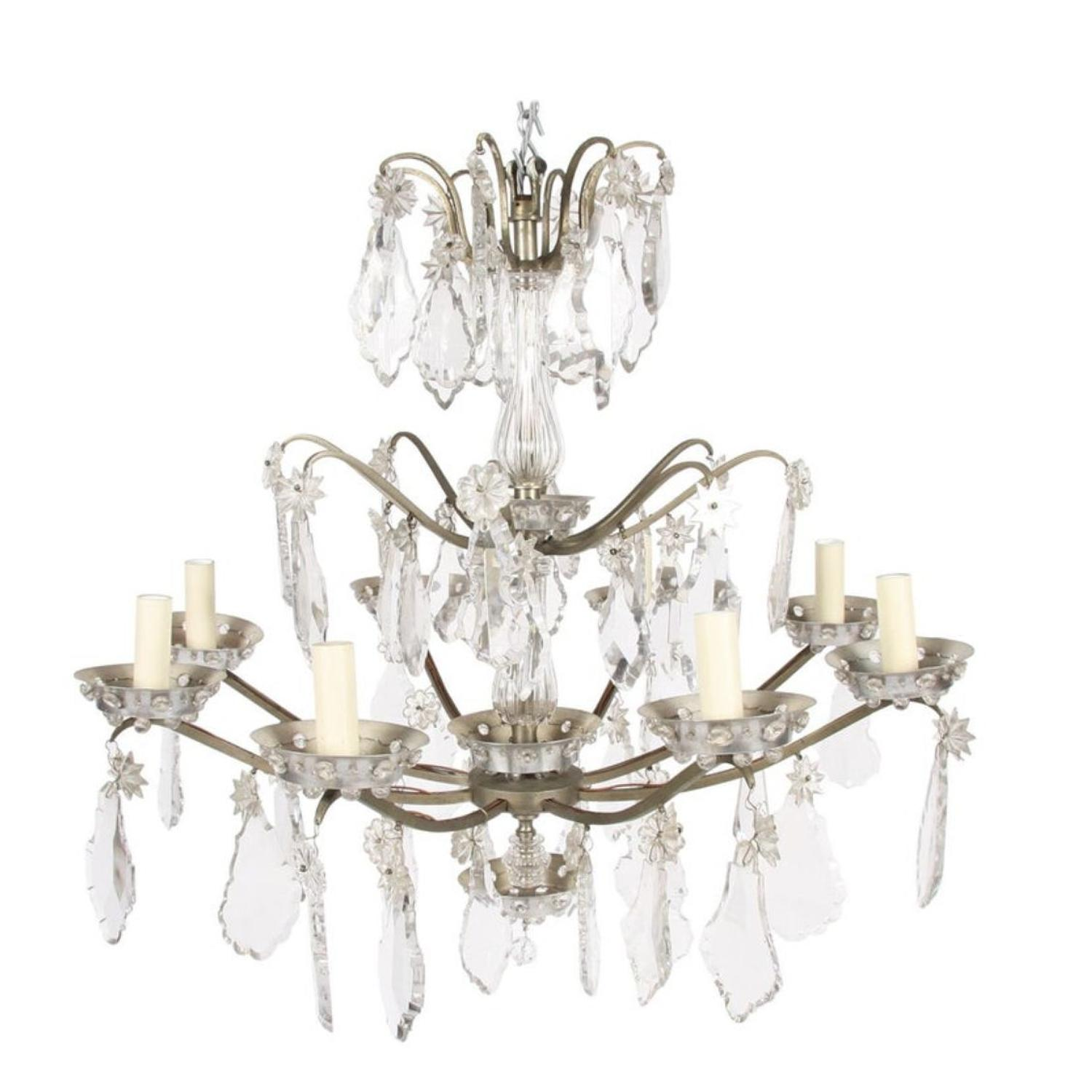 Metal & Crystal Chandelier by Baccarat