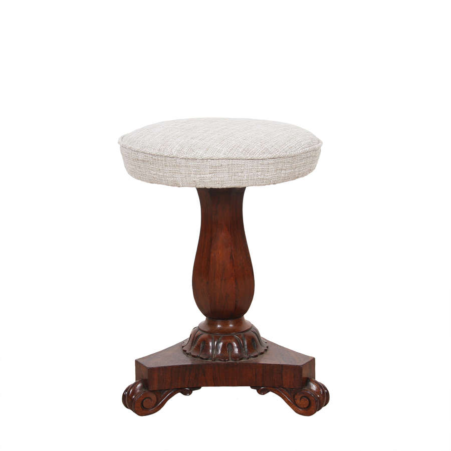 William IV Rosewood Stool
